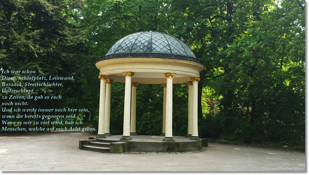 Feiernde Menschen in Parks, der Untergang der Menschheit, oder war da noch was😉